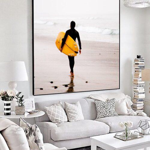 Het textielframe voor grote schilderijen, fotobehang of fotokunst